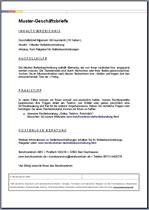 Geschäftsbrief Englische Word Vorlage Für Ein Angebot Auf Die